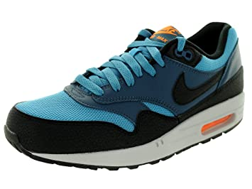 NIKE [537383-402] AIR Max 1 Essential Mens Sneakers BL/BLK Sqdrn