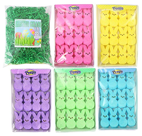 Well Pack Box Easter Marshmallow Peep Bundle Includes 5 Colo