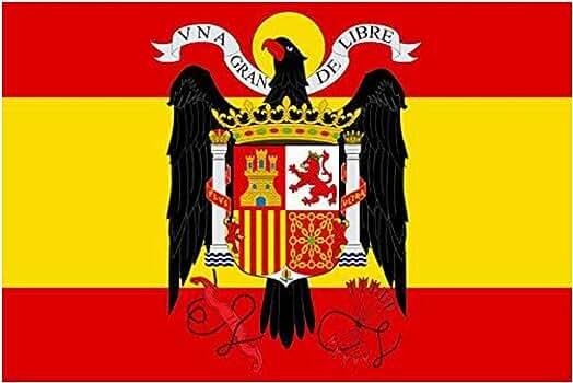 Gemelolandia Bandera Española Aguila de San Juan 90x150cm: Amazon ...