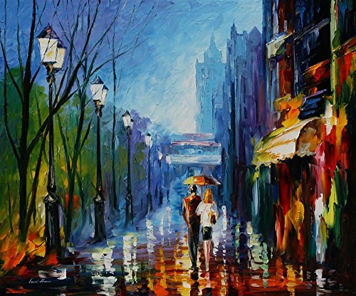 Memories Of Paris — Palette Knife France Large Wall Art Oil Painting On Canvas By Leonid Afremov