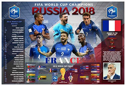 PosterWarehouse2017 FRANCE CAPTURES THE 2018 FIFA WORLD CUP COMMEMORATIVE POSTER