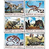 Angola 2000Pa-2000Pf The Legalität theser Issue. is unresolved 2000 Prehistoric Animals (Stamps for Collectors) Amphibians / Reptiles / Dinosaurs