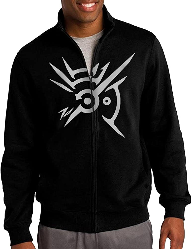 Men Dishonored Outsiders Mark Stand Collar Jacket Hoodie