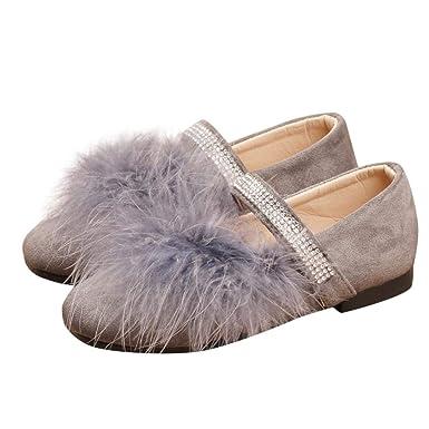 ZODOF Niños Infantil Niño Niñas Solid Flock Crystal Princess Solo Zapatos Casuales: Amazon.es: Ropa y accesorios