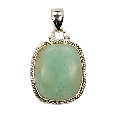 Amazon shimmering sterling silver rare aventurine pendant jewelry shimmering sterling silver rare aventurine pendant aloadofball Choice Image