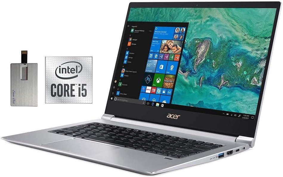 "2020 Acer Swift 3 14"" FHD Laptop Computer, Intel Core i5-8265U Processor, 8GB DDR4 RAM, 512GB PCIe SSD, Backlit Keyboard, Intel UHD Graphics 620, Acer TrueHarmony Audio, HDMI, Win 10, 32GB USB Pen"