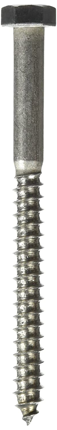 10-Pack The Hillman Group 964603 3//8 x 4-1//2-Inch Stainless Steel Hex Lag Screw