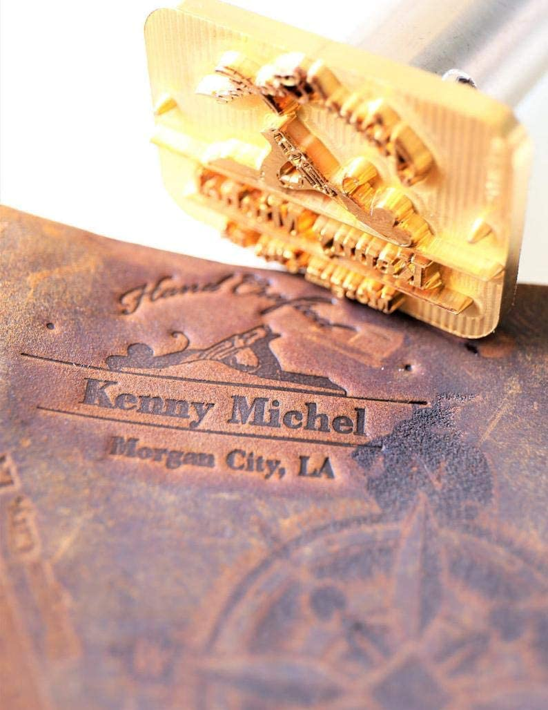 """Custom Logo Wood Branding Iron,Durable Leather Branding Iron Stamp,BBQ Heat Stamp Including The Handle,Saw Blade Design Stamp 3x3/"""""""