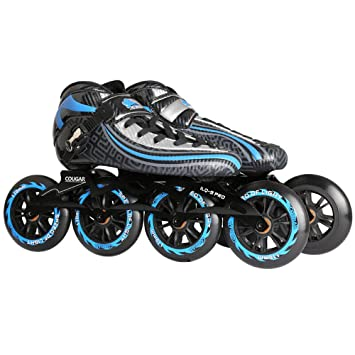 LIUDADA Patines: Patines de Velocidad Zapatillas con Ruedas Zapatillas de Carreras de Fibra de Carbono