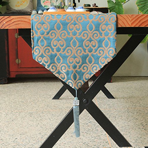 corredores de mesa, mesa de comedor de mesa de mesa de mesa de comedor de mesa de comedor de jacquard de diamante -32 * 210 cm