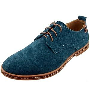 Dadawen Men's Green Leather Oxford Shoe - 6 D(M) US