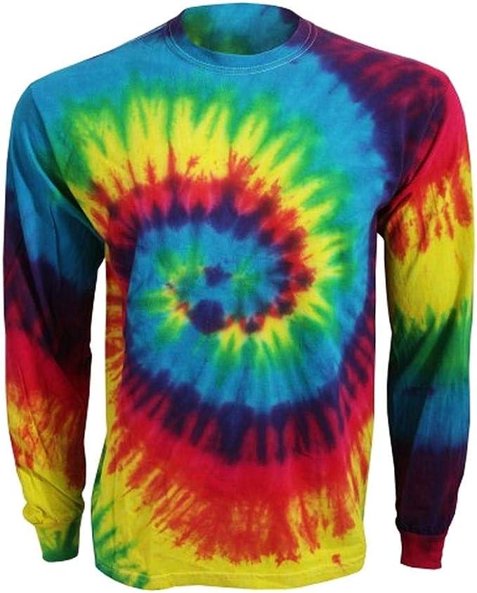 Colortone Camiseta de manga larga unisex teñida para adultos