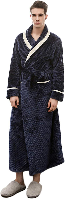 Cicilin Femme Homme Peignoir Velours V/êtements de Nuit Polaire Chaud Long Robe de Bain Flanelle