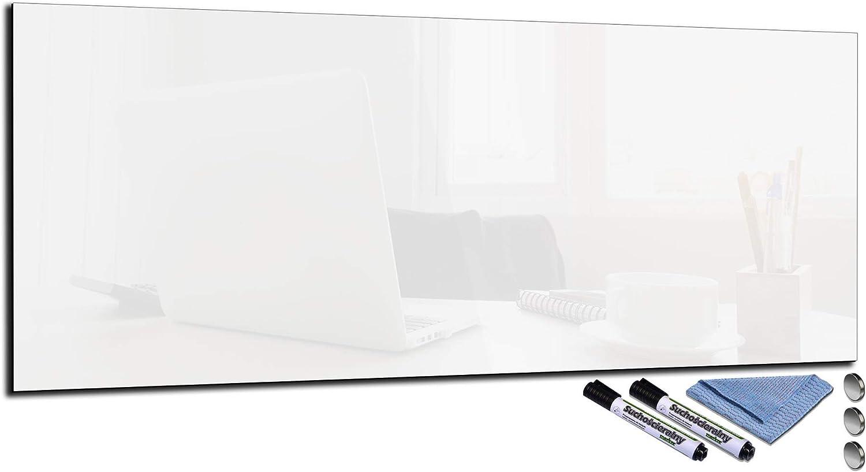 Glas-Magnettafel 20x20 Pinnwand Wand mit Zubehör Whiteboard Küche
