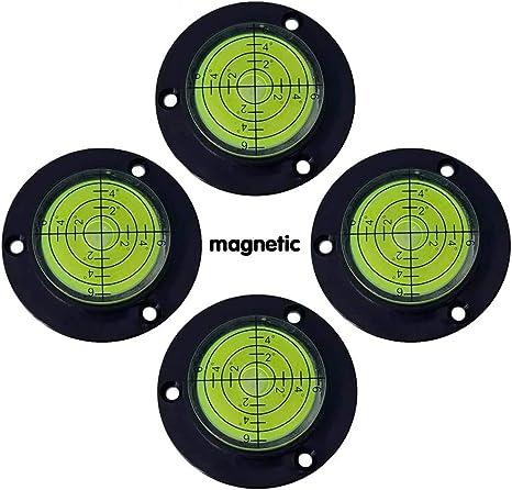 Universal Level Instrument Horizontal Bead Horizontal Instrument Horizontal Bubble Level Belt Positioning Hole Through 50MM Magnetic Function (green) - - Amazon.com