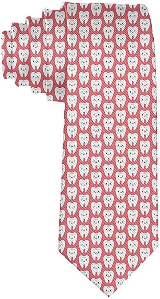 Hombre Dientes de dibujos animados Corbata rosa Corbata Corbata de ...