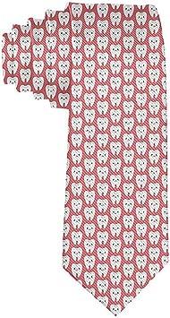 Patrón de dientes de dibujos animados de hombres Corbata rosada ...
