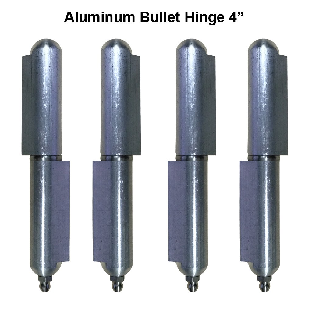 Aluminum weld on Bullet Hinge Stainless Steel Bushing & Pin with Grease 4'' Lot 2 Pair
