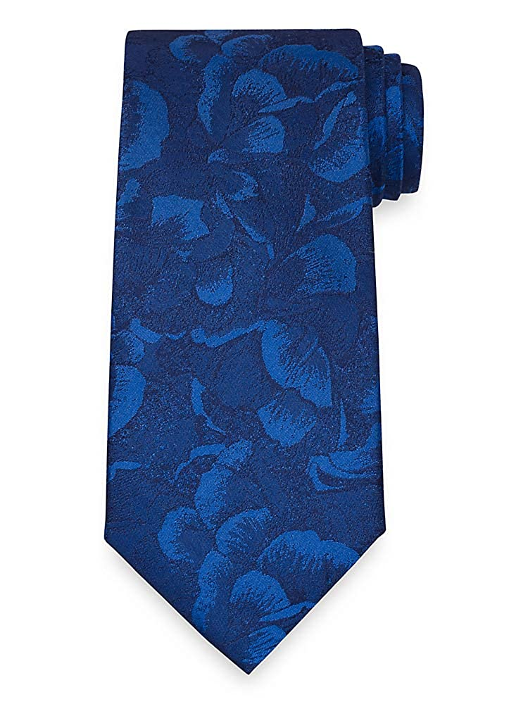 Paul Fredrick Mens Floral Silk Tie