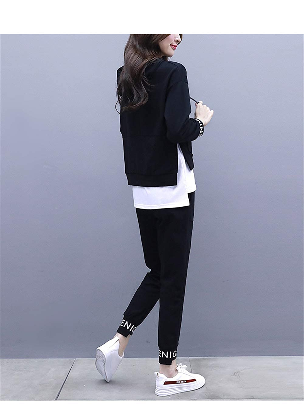 Casual wear Pants FUTULY Womens Round Neck Casual Long-Sleeved Sweatshirt