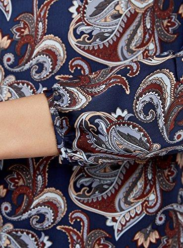 Collection Camicetta Blu oodji con Taglio 7937e a Donna Goccia Larga UTEEdw