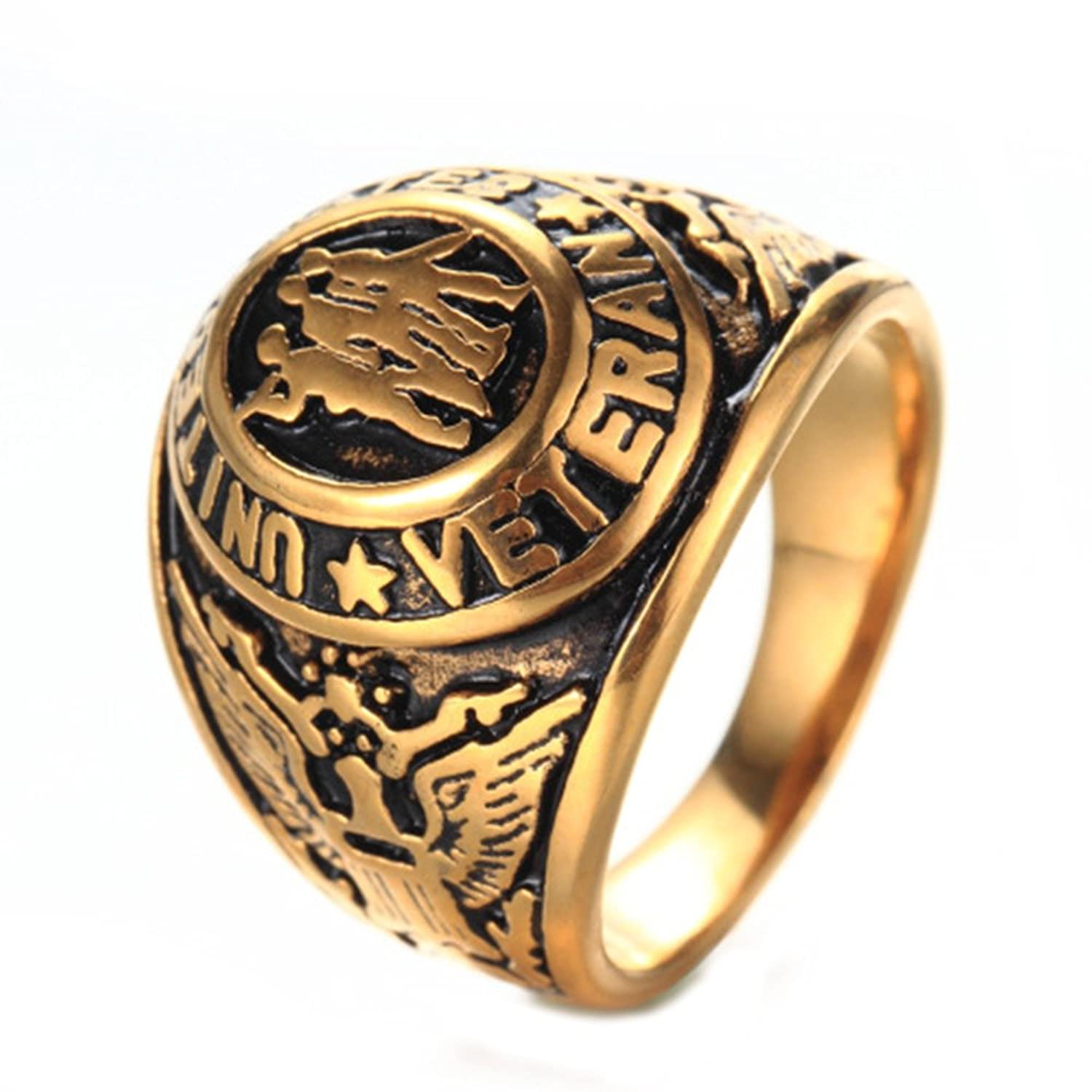 Mens Titanium Steel Jewelry Retrol Church of Our Lady of Guadalupe Religious Rings