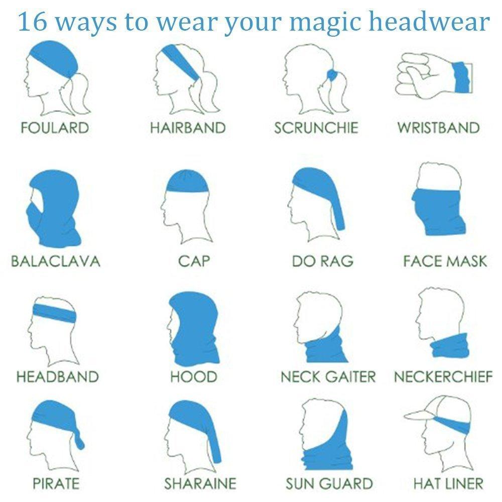 Running Magic Scarf Neck Gaiter Great For Men /& Women 3D Headwear,Leopard Print Face Mask Bandana Balaclava Headband For Cycling Skateboarding Motorcycling Moisture Wicking UV Protection