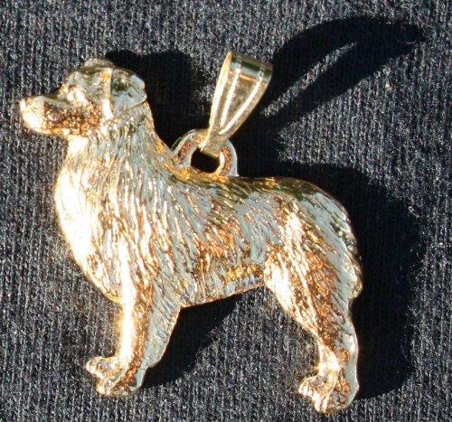 - Australian Shepherd Dog 24k Gold Plated Pewter Pendant