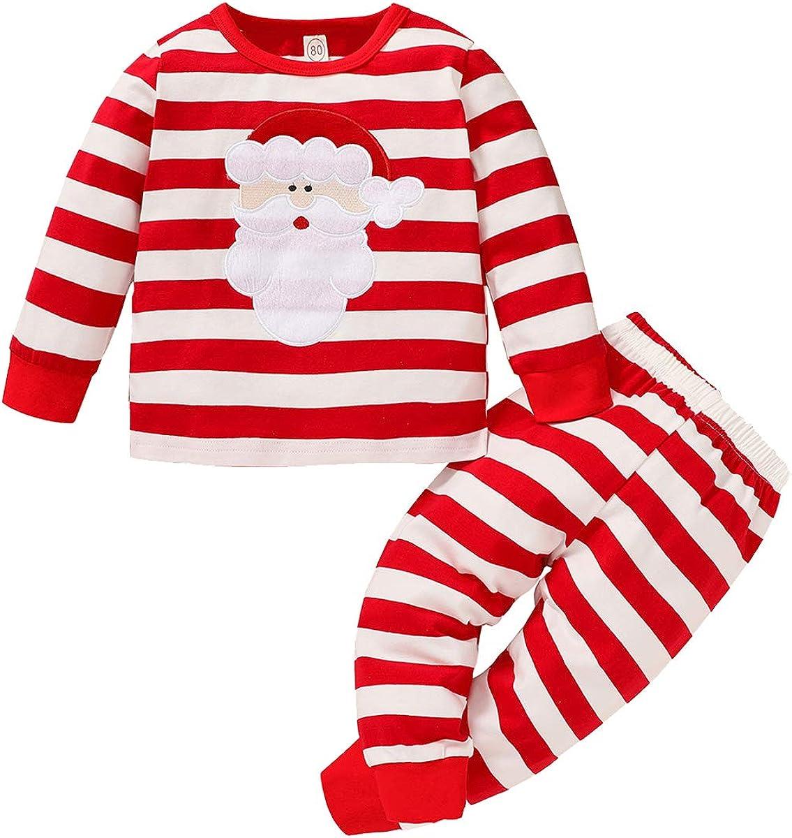 Halloween Kids Toddler Baby Boys Girls Outfit Long Sleeve Mummy Stripes T-Shirt+Pants Fall Pajamas Clothes Set