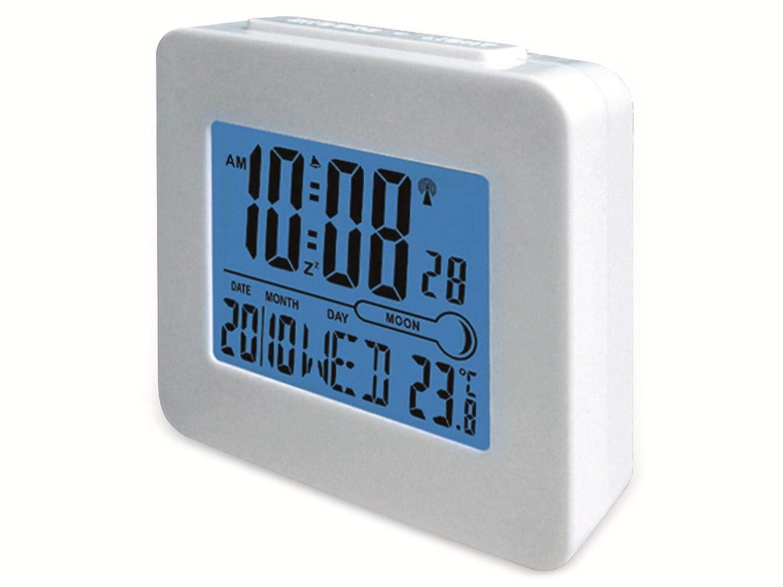 blau//wei/ß Denver REC-34 Alarmwecker LCD-Display, Innentemperatur, Hintegrundbeleuchtung