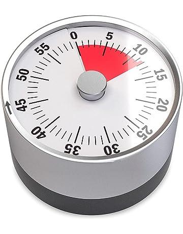 Balvi - Basics minutero mecánico y magnético. Cuenta hasta 60 Minutos. Sonido de Alarma