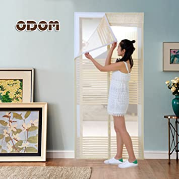 GWQMM GWQ Fliegengitter Tür Insektenschutz Magnet  Fliegenvorhang Automatisches Schließen Moskitonetz,Vorhang Für Balkontür  Wohnzimmer