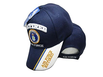 b3f24061f K's Novelties US Air Force Retired Blue/White Shadow Navy Blue Embroidered  Cap Hat