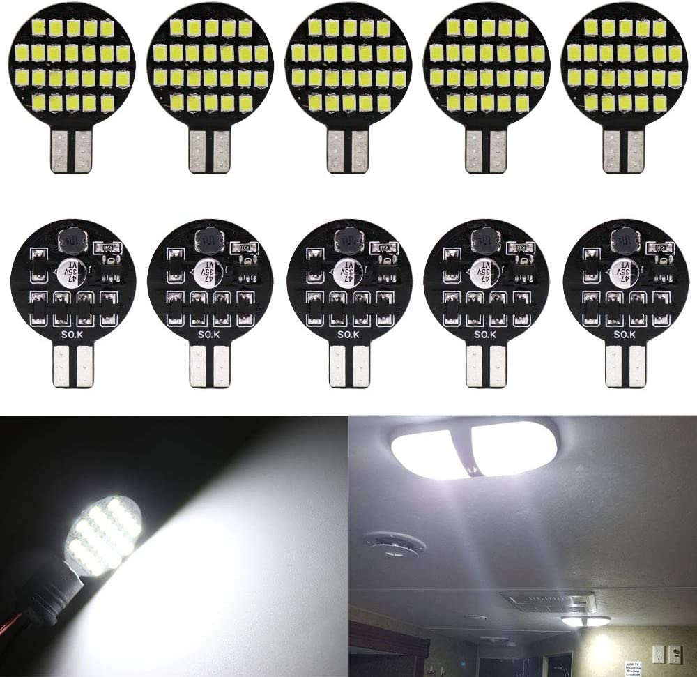 12-Pack 1156 BA15S 7506 1141 1003 1073 Warm White 3000k LED Light 12V-DC AMAZENAR 5050 18 SMD Car Replacement For Interior RV Camper Turn Signal Light Lamps Tail BackUp Bulbs