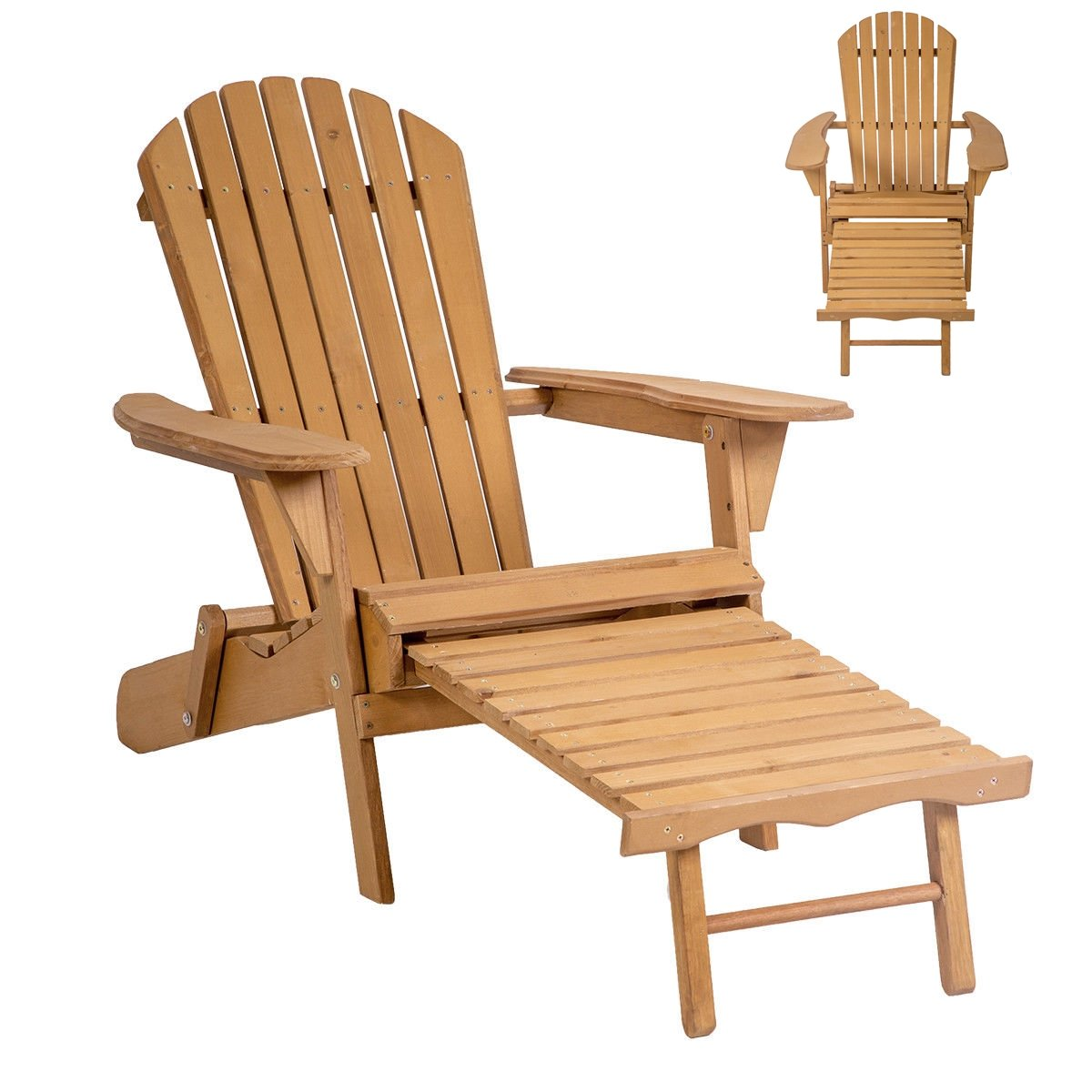 Amazon.com : Lapha' Wood Beach Chair Pool Chair Sunbathe Rustic Country  Style Outdoor Foldable w/Pull Out Patio Furniture : Garden & Outdoor - Amazon.com : Lapha' Wood Beach Chair Pool Chair Sunbathe Rustic