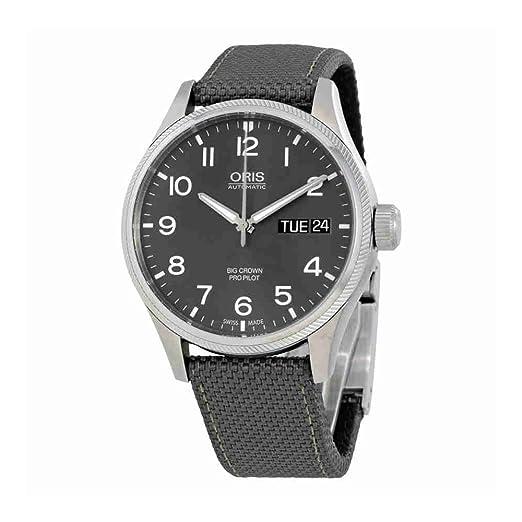3c42ed12d833 Oris Big Crown Propilot Day Date Mens Watch 01 752 7698 4063-07 5 22 17FC   Amazon.co.uk  Watches