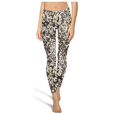 cbaa759fe9 Gym Yoga Pants for Womens Printed Yoga Leopard Texture Art Sport ...