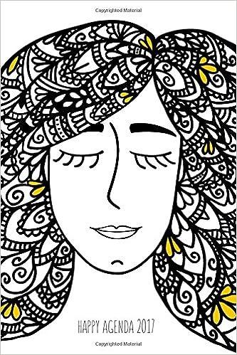 Amazon.com: Happy Agenda 2017: Zentangle Girl: Agenda ilustrada para ...
