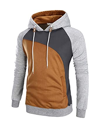 92048bb7ec11 Mooncolour Men s Casual Pullover Long Sleeve Hoodies Outwear at ...