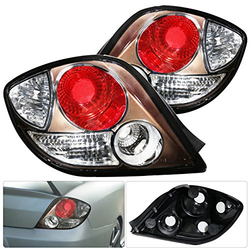 For Tiburon Gs Gt Se Titanium Housing Altezza Style Tail Light Lamp Red Reflector Left Right Pair Set