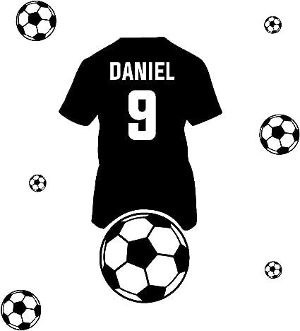 Personnalisé Ballon de football Applique Murale pour Enfants Chambre Mur Autocollants