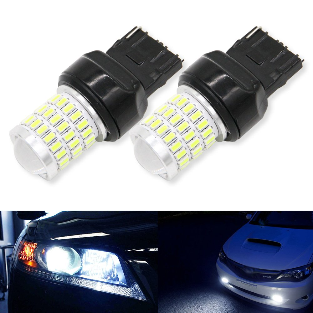 12-24v !Super Bright Low Power !2 x 650 Lumens 1156 1141 1003 1157 3157 3156 7443 7440 3014 3014 54smd Led Light bulb Use for Back Up Reverse Lights, Brake Lights, Tail Lights, Rv lights White (1157) Mingrui test