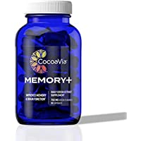 CocoaVia Memory+ Brain Supplement, 750 mg of Cocoa Flavanols | Brain Support for Improved Memory and Brain Function | 30…