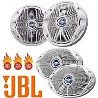 JBL MS6520 180 Watt MS 6.5 2-Way Coaxial Marine Audio Speaker MS9520 300 Watts 6 x 9 2-Way Coaxial Marine Audio Speakers