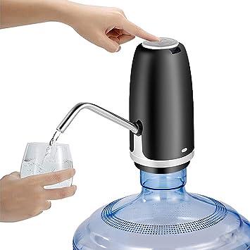 Bomba Automática De Agua Potable Galón Portátil Embotellada Escritorio Botón Dispensador Hervidor De Agua Eléctrico Cocina Carga Usb,Black: Amazon.es: Hogar