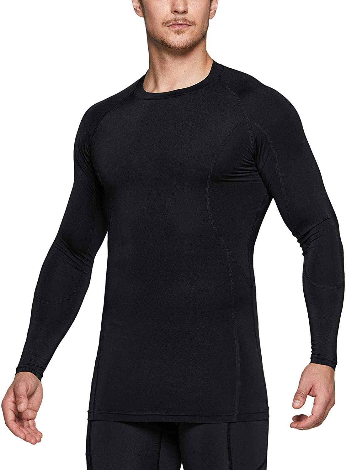 TSLA 1 or 2 Pack Men's Cool Dry Fit Long Sleeve Compression Shirts, Athletic Workout Shirt, Active Sports Base Layer T-Shirt