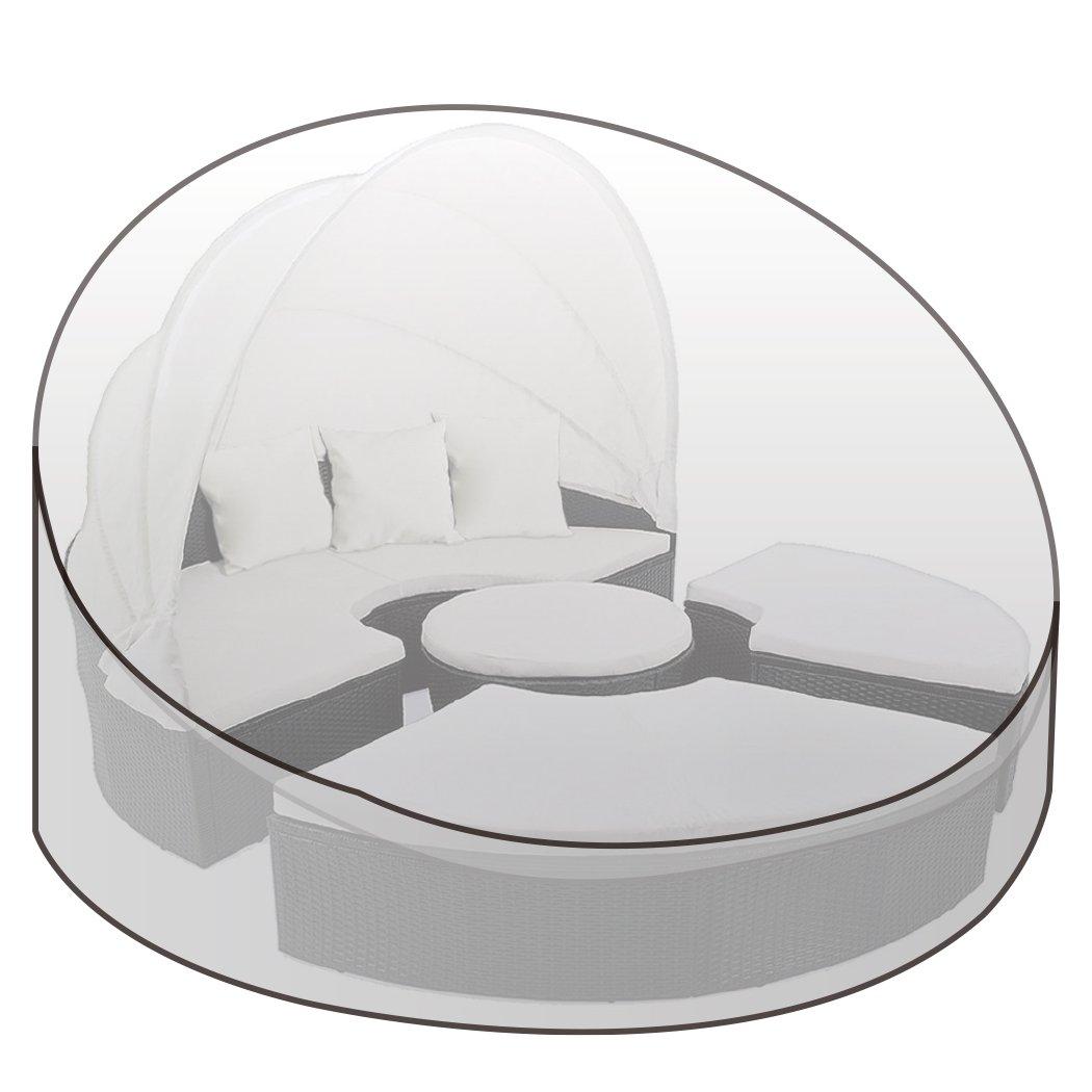 WOLTU® GZ1195tp Copertura per Letto Isola Sdraio Prendisole Mobili da Giardino Telo Coperture Cover Protezione PE