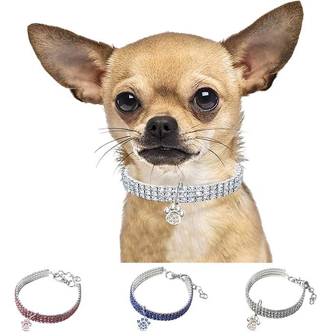 CAOQAO - Collar de fantasía para Cachorros pequeños y Gatos, 3 ...