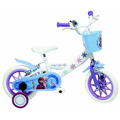 "Disney La Reine des Neiges Vélo Enfant Blanc 20"" 6v"