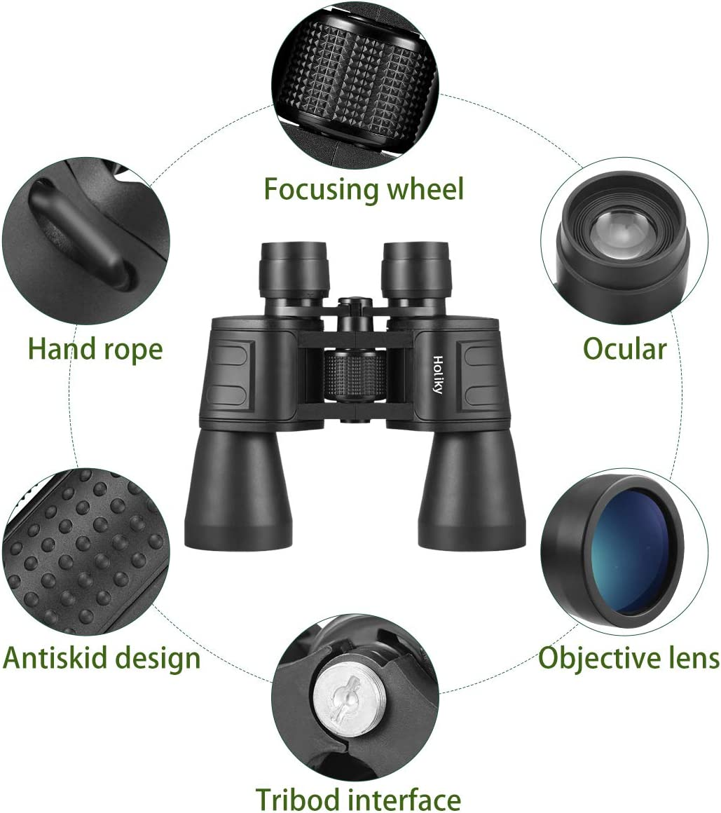 Binoculars for Adults, 10×50 High Power HD Binoculars for Hunting with Low Light Night Vision, Durable Compact Binoculars for Birds Watching,Concert, Sports Games, Hiking, 10X Magnificent